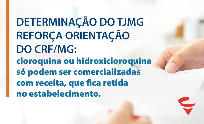 Justiça encaminha determinação aos farmacêuticos mineiros sobre a venda de cloroquina ou hidroxicloroquina